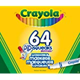 Crayola 64 Pip-Squeak Skinnies Markers, School and Craft Supplies, Gift for Boys and Girls, Kids, Ages 3,4, 5, 6 and Up, Holiday Toys, Stocking Stuffers, Arts and Crafts