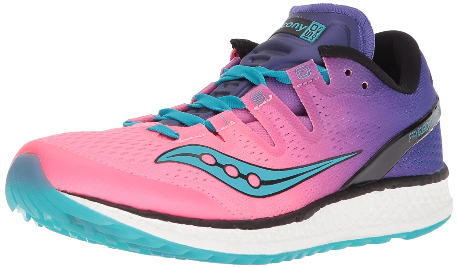 Pink Purple Saucony Women's Freedom ISO Running shoes
