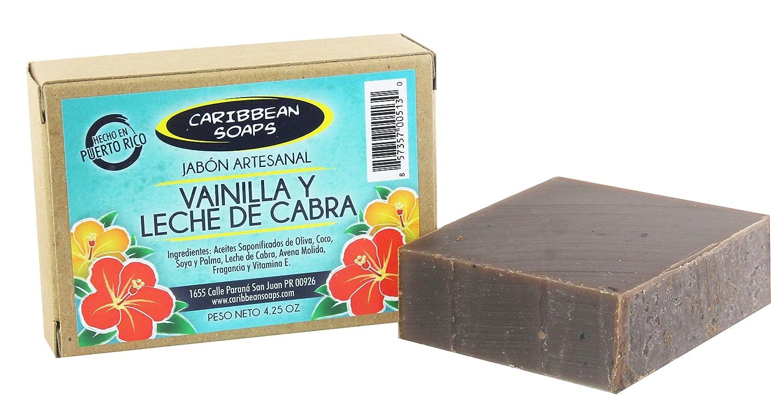 Amazon.com : Caribbean Soaps Vanilla & Goats Milk Handmade Soap - 4.25 oz. : Beauty