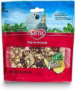 Kaytee Fiesta Pop-A-Rounds, Pineapple, 2-Ounce