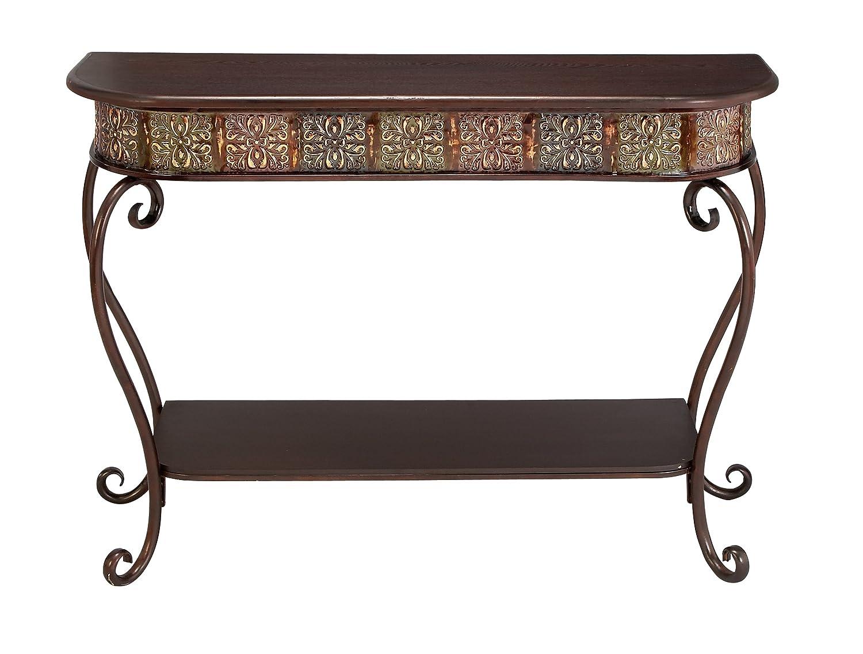 Marvelous Deco 79 74362 Metal Wood Console Table 32 X 43 32 X 43 Uma Inzonedesignstudio Interior Chair Design Inzonedesignstudiocom