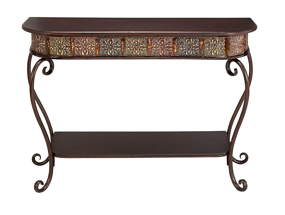 "Deco 79 74362 Metal Wood Console Table, 32"" x 43"""