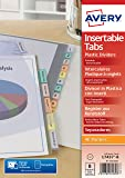 Avery Intercalaires Polypropylène - A4-8 Onglets Personnalisables - Transparent (L7437-8)