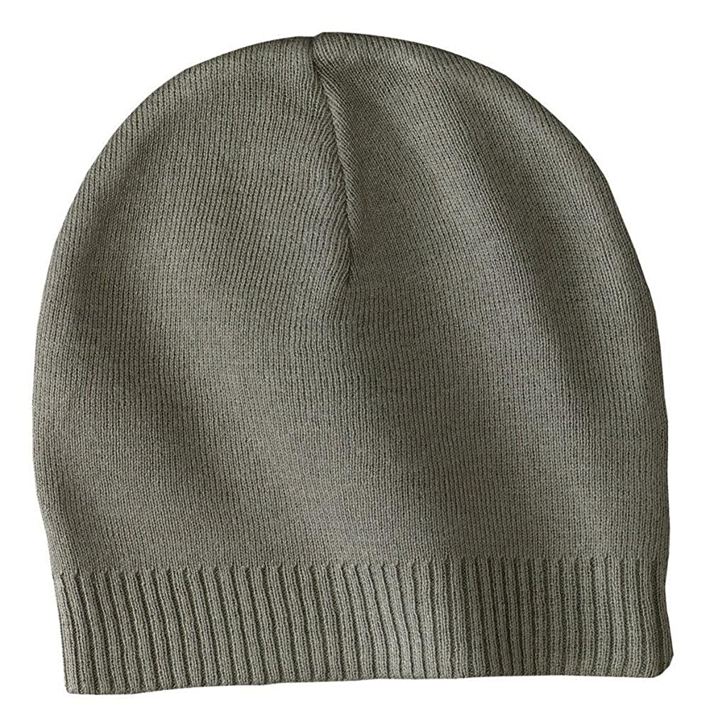 Port Authority - 100% Cotton Beanie O/S Graphite CP95