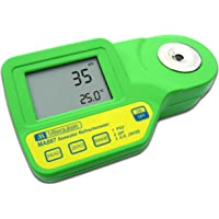 Milwaukee MA887 Digital Salinity Refractometer with Automatic Temperature Compensation, Yellow LED, 0 to 50 PSU, +/-2…
