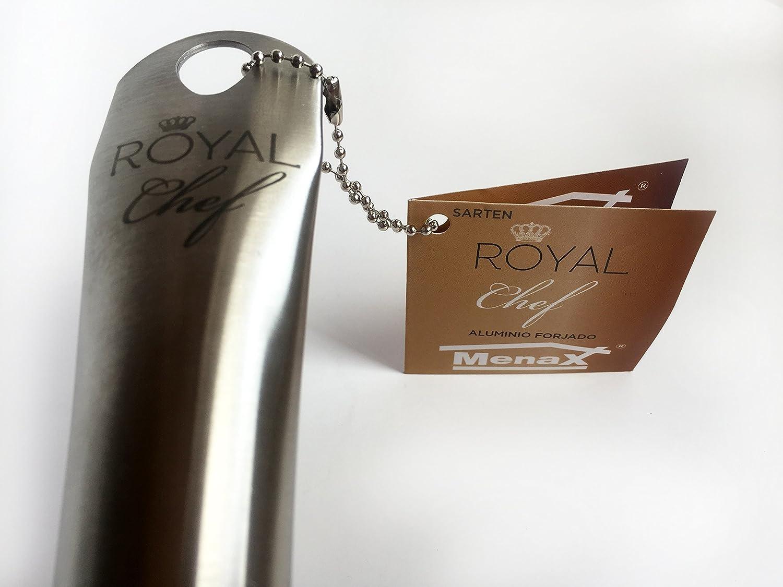 Royal Chef - Sartén Profesional de Aluminio Forjado - Recubrimiento Antiadherente Premium - Ø 20 cm: Amazon.es: Hogar
