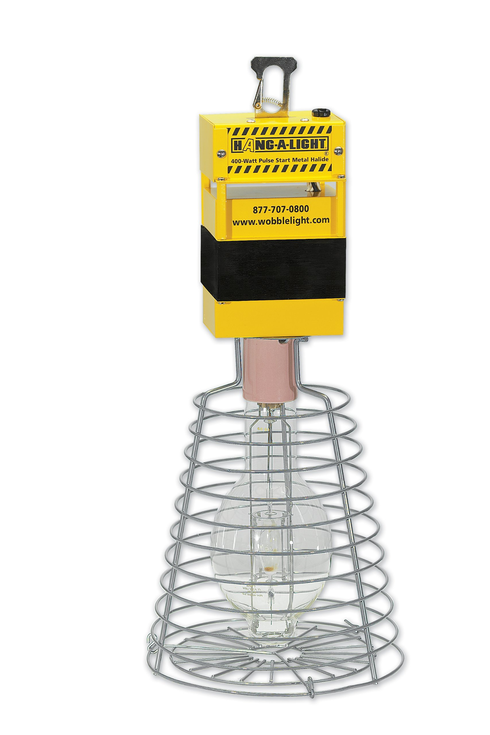 Hang-A-Light HL400PS 400w Pulse Start Metal Halide 24-Inch Tall Temporary Work Light, Yellow by ProBuilt