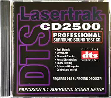 TestDisc.com - Surround Sound Test CD (DTS) - Lasertrak CD2500 - For