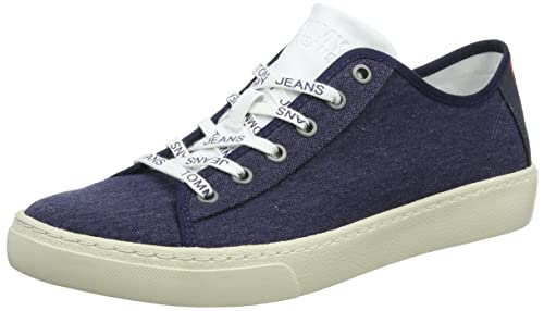 Mens Light Textile Low-Top Sneakers, Black (Black Iris) Tommy Jeans