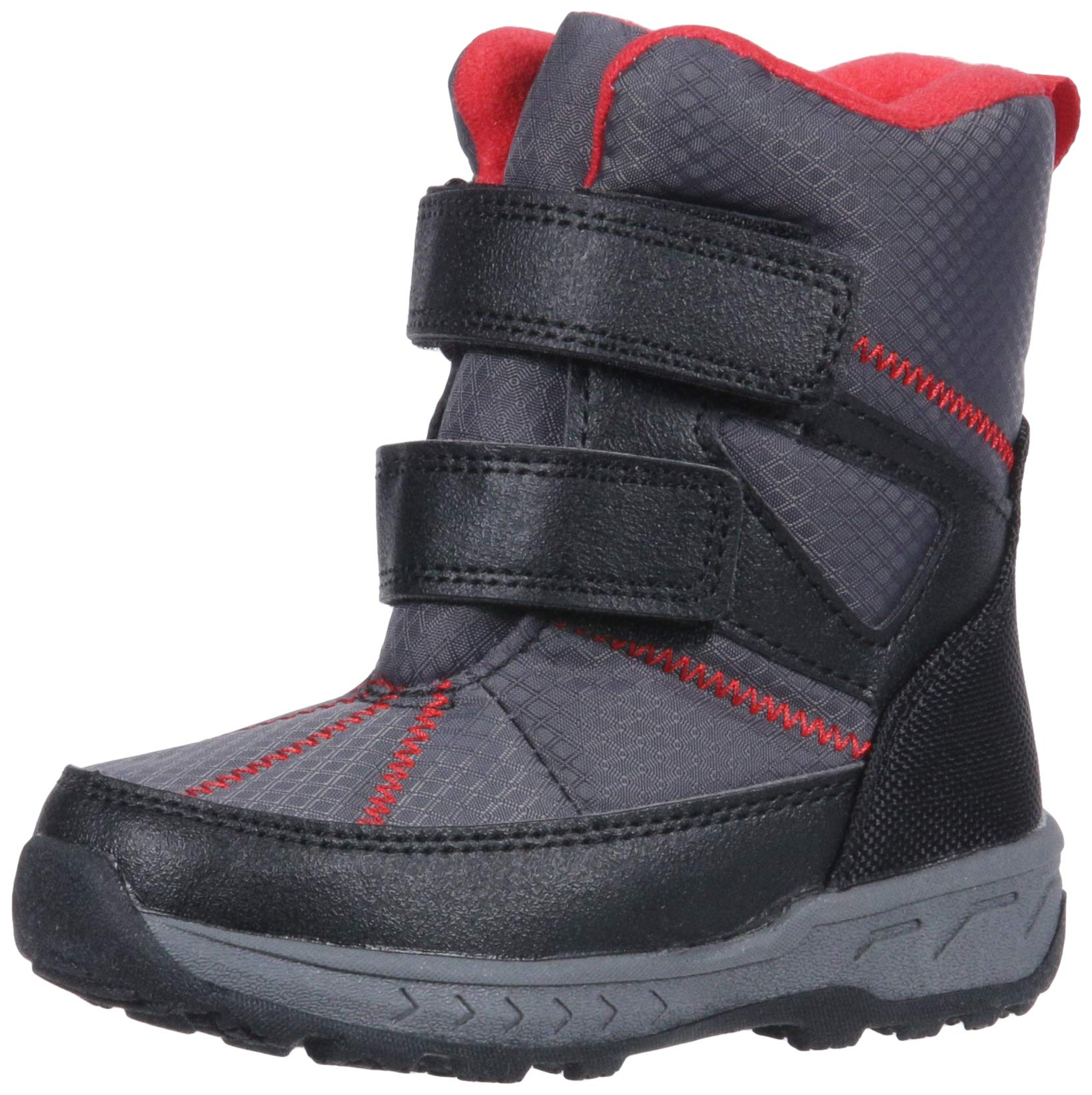 carter's Boys' Booth Cold Weather Snow Boot, Black, 11 M US Little Kid