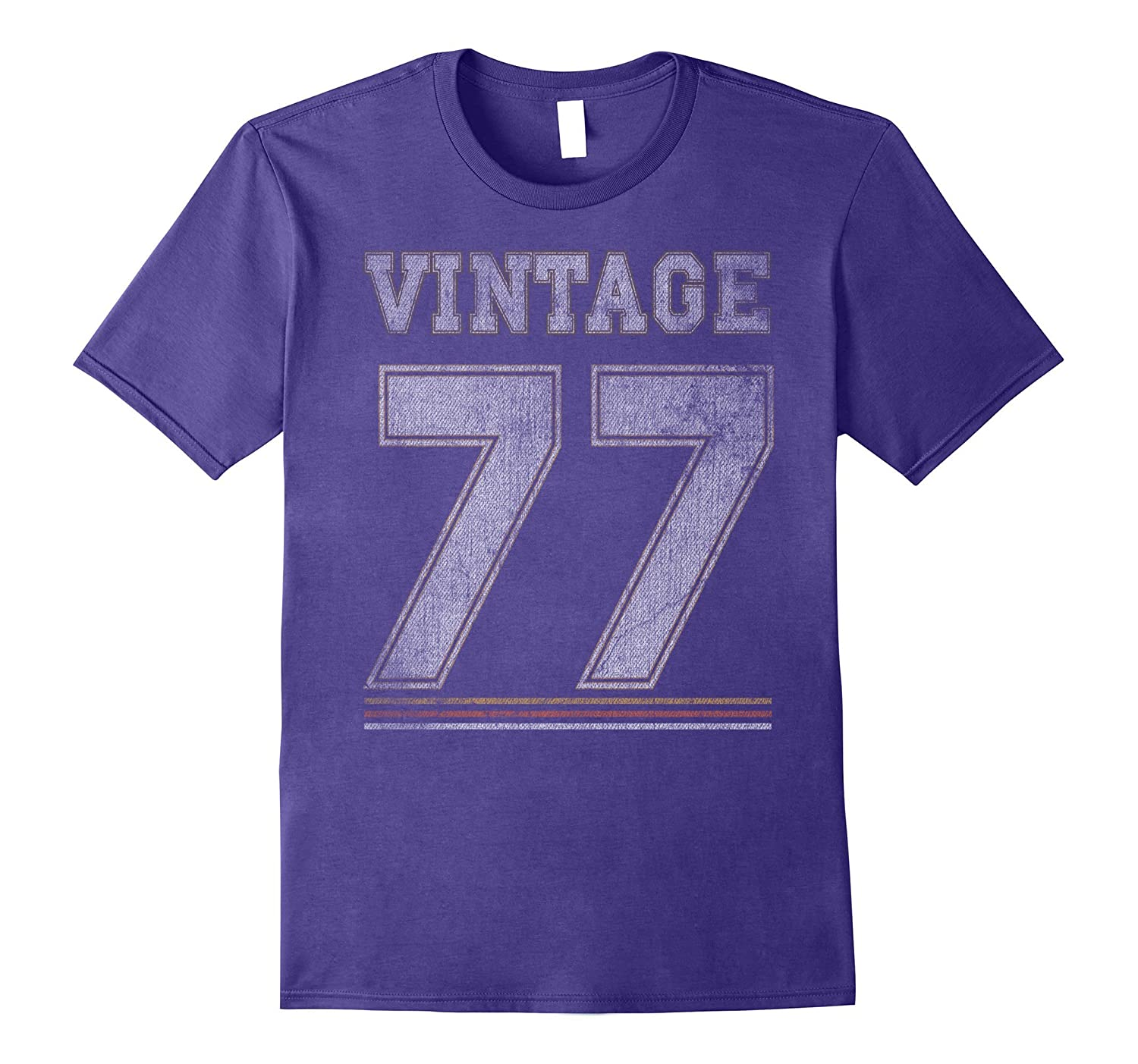 Vintage 77 - 40 Years Old 40th Birthday Gift T-shirt-T-Shirt