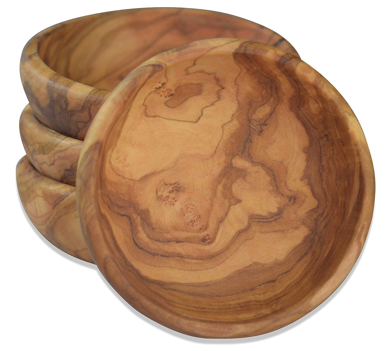 Jede Schale ist ein Unikat. mit kaltgepresstem Lein/öl eingelassen Durchmesser ca 15 cm Mit sehr sch/öner Maserung Runde Schale LAMAMMA aus Olivenholz