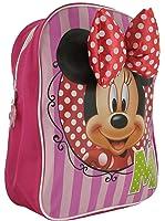 Fille Minnie Mouse Sac à dos avec fermeture Éclair simple Compartment. Rose/rouge/vert-Tailles :  1 1