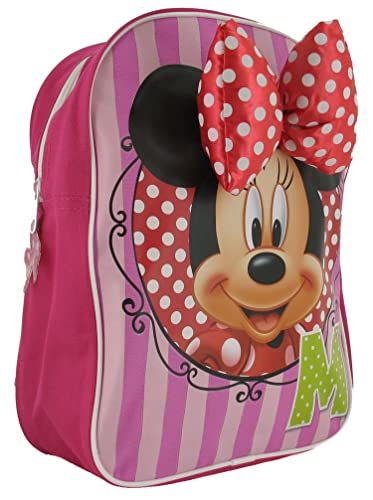 Girls Minnie Mouse Backpack With Single Zip Compartment. - Pink Red Green - 5d48204c22