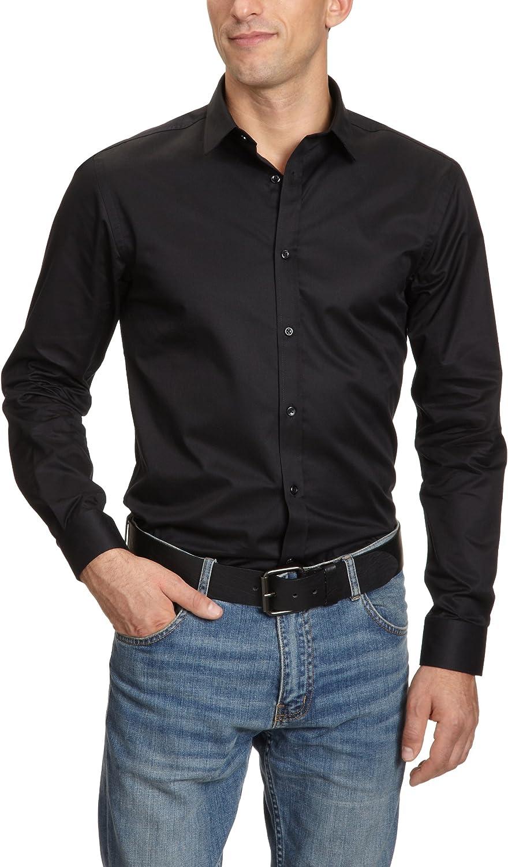 Jack & Jones 12020857, Camisa Para Hombre, Negro, 40 (Medium): Amazon.es: Ropa y accesorios
