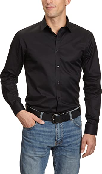 Jack & Jones 12020857, Camisa Para Hombre, Negro, 40 (Medium ...