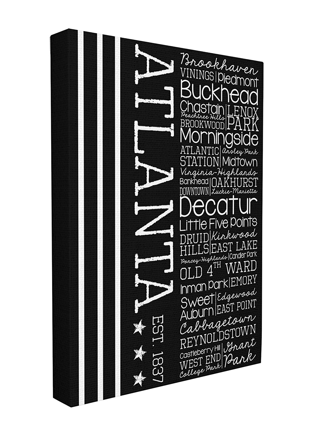 The Stupell Home Decor Collection Atlanta Words and Cities Typography Art Canvas