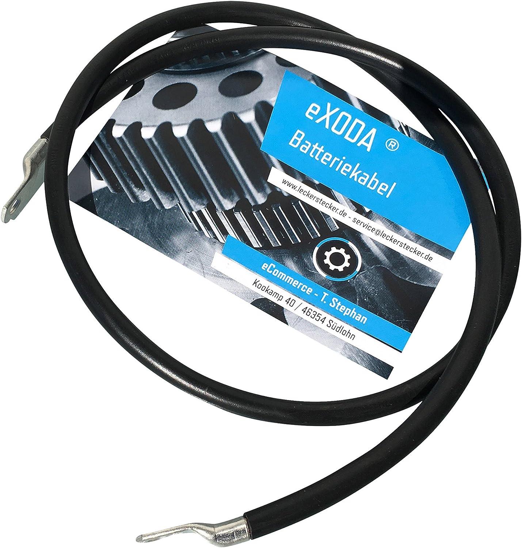 eXODA C/âble de Batterie 30cm c/âble dalimentation en cuivre 25 mm/² avec cosses /à /œillets M6 M8 Rouge 12V c/âble de Voiture