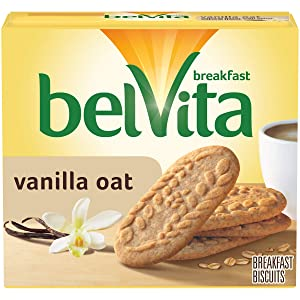 belVita Vanilla Oat Breakfast Biscuits, 5 Count Box, 8.8 Ounce