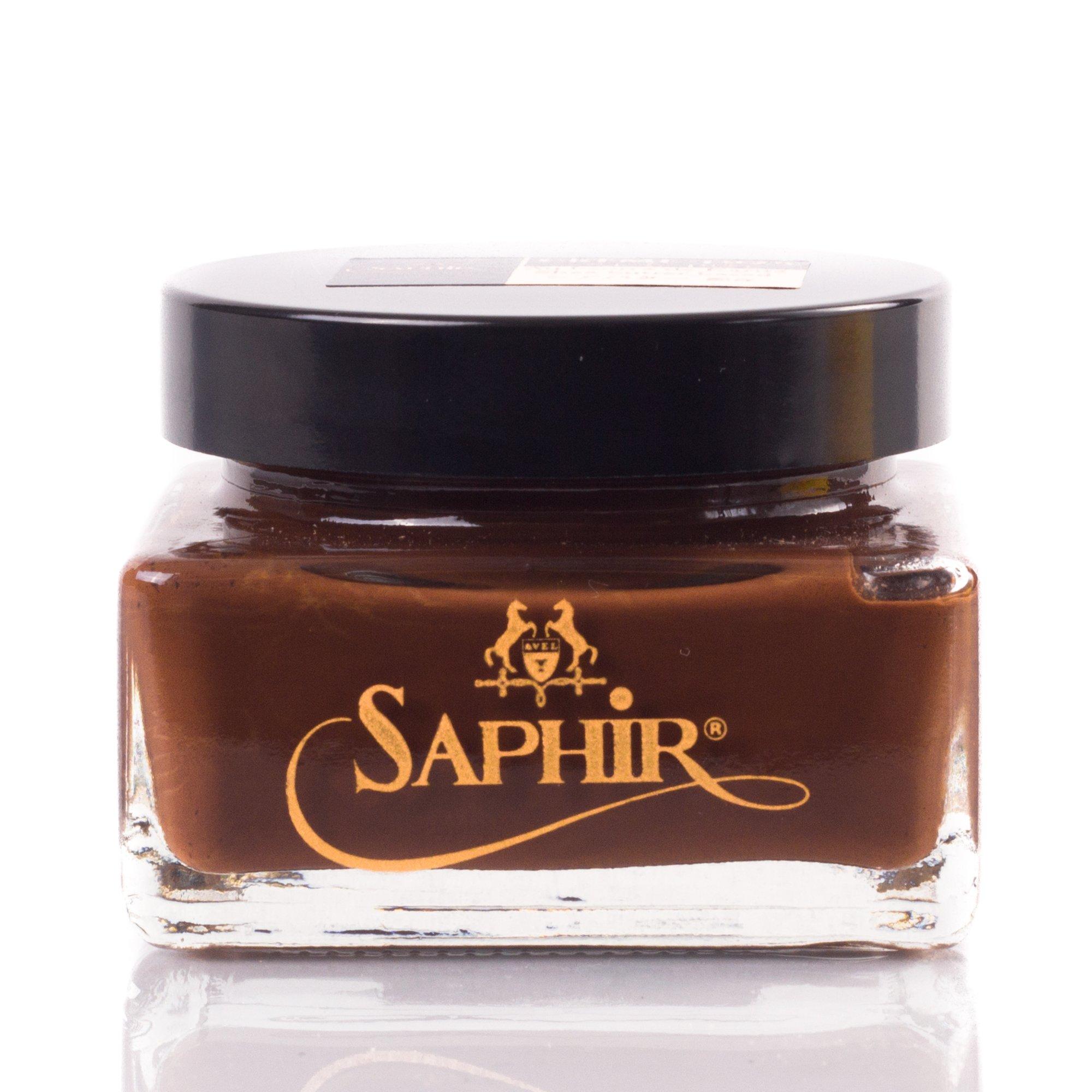 Saphir Pommadier Cream / Shoe Medium Brown Polish 75ml Medai
