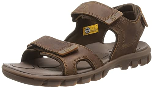 b15097c20 Caterpillar Mens Brown Tactacle Leather Sandals-UK 7: Amazon.ca ...