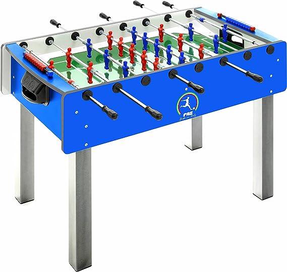 Fas Pro - Futbolín azul con barras retráctiles hacia dentro + ...