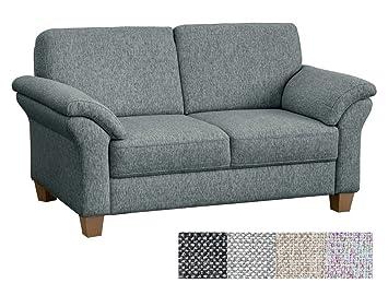CAVADORE 2 Sitzer Baltrum/Große Couch Mit Federkern/Edle Sofa Garnitur Im  Landhausstil
