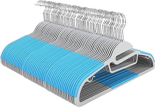 42 cm breit grau CRP20G50 um 360/° drehbarer Haken gut belastbar 0,6 cm Dicke mit Anti-Rutsch Design SONGMICS Kleiderb/ügel 50er Set platzsparend Anzugb/ügel aus Kunststoff
