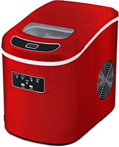 Whynter IMC-270MR Compact Portable 27 lb Capacity-Red Ice Makers, One Size, Metallic