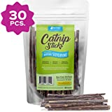 Raw Paws Natural Matatabi Cat Stick Treat - Unprocessed, Safe & Healthy - Cat Silvervine Sticks for Cats of All Ages - Natura