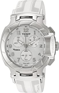 Tissot Womens T0484171701200 T-Race Analog Display Swiss Quartz White Watch