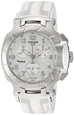 b82c5a457 Image Unavailable. Image not available for. Color: Tissot Women's 'T-Race'  Swiss Quartz Stainless Steel and Rubber Sport Watch,