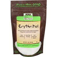Now Foods Erythritol, Natural Sweetener, 454 g