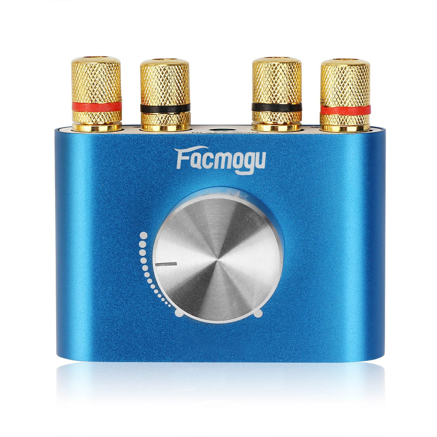 F900 Blue Audio Power Amplifier 50W + 50W, Mini Dual Channel Bluetooth 4.0 Stereo Amplifier Wireless Digital HiFi Audio Receiver DC 12V (Without Power Supply)