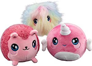 """Squeezamals (Narcissa Narwhal, Fifi Furball, Hopey Hedgehop - 3.5"""" Super-Squishy Foamed Stuffed Animal! Squeezable, Soft, Adorable! Toy (3 Pack)"""