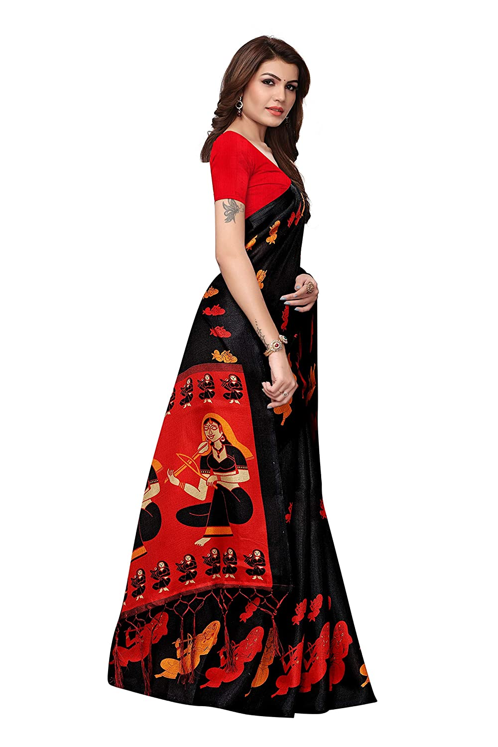 kalamkari Silk saree under 500