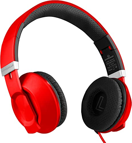 HyperGear V30 Wired Stereo Headphones with Mic Remote Control.Compatible for Laptop Computers Gaming iPhone X 8 8Plus,Samsung S10 S9 S9 ,Note8 9 More