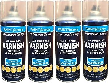 Waterproof Yacht Varnish Spray Paint Clear All Purpose Interior Exterior  400ml (4)