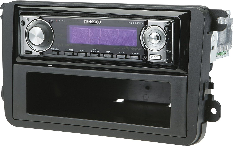 Radio Replacement Dash Mounting Kit w//Pocket /& Antenna 1 or 2 DIN for Volkswagen