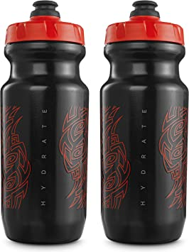 2-Pack Clear // Red Peakline Sports 2nd Gen Big Mouth Water Bottle 21 oz by Specialized Bikes