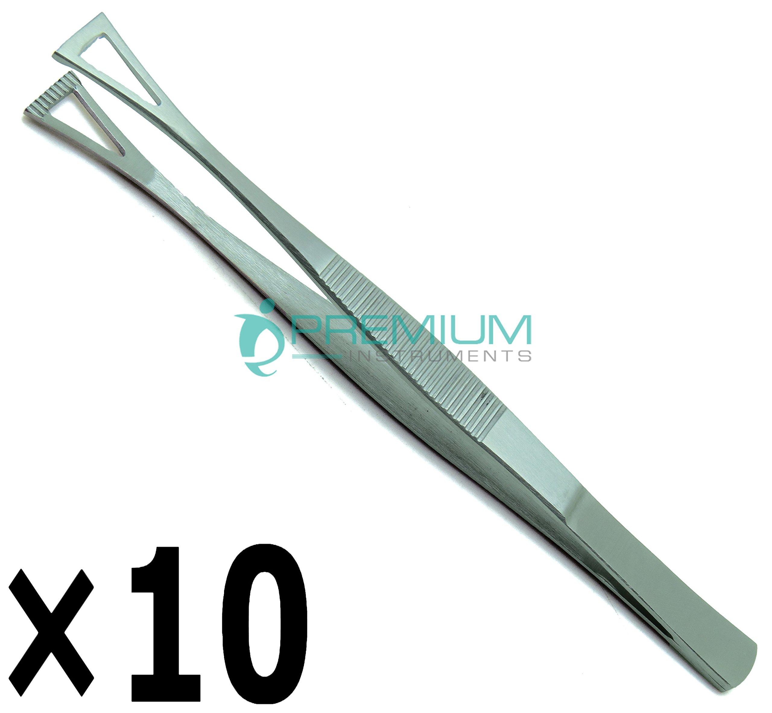 10× Collin Duval Tissue Forceps 15cm Body Piercing Tweezer Premium Instruments