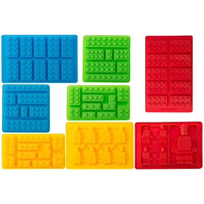 8pc Candy Molds For Lego Lovers, Chocolate Molds, Ice Cube Molds