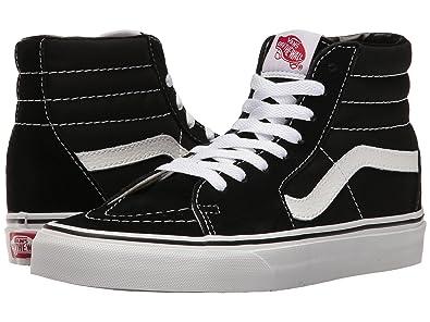 623054ba88a209 Vans SK8 Hi Black Black White Canvas Mens US 5.5