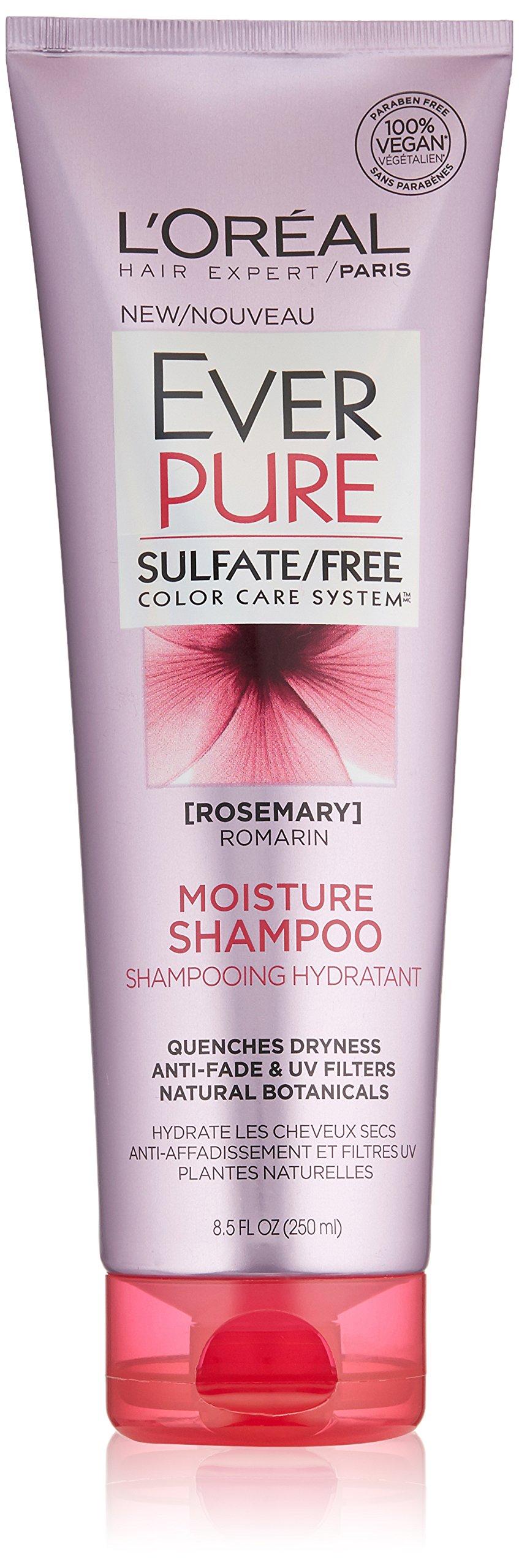 L'Oréal Paris EverPure Sulfate Free Moisture Shampoo, 8.5 fl. oz.