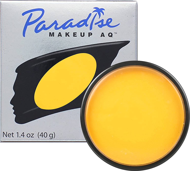 Paradise Makeup AQ 40g Face & Body Paint (Yellow) Mehron MParadiseYellow