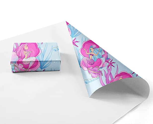 amazon com mermaid wrapping paper sheets 10 pack of 11x17