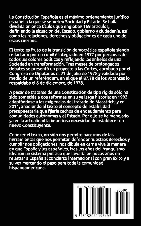 Constitución Española: Amazon.es: de la Constitución, Padres: Libros