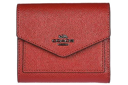 Coach monedero cartera bifold de mujer en piel nuevo rojo: Amazon.es: Zapatos y complementos