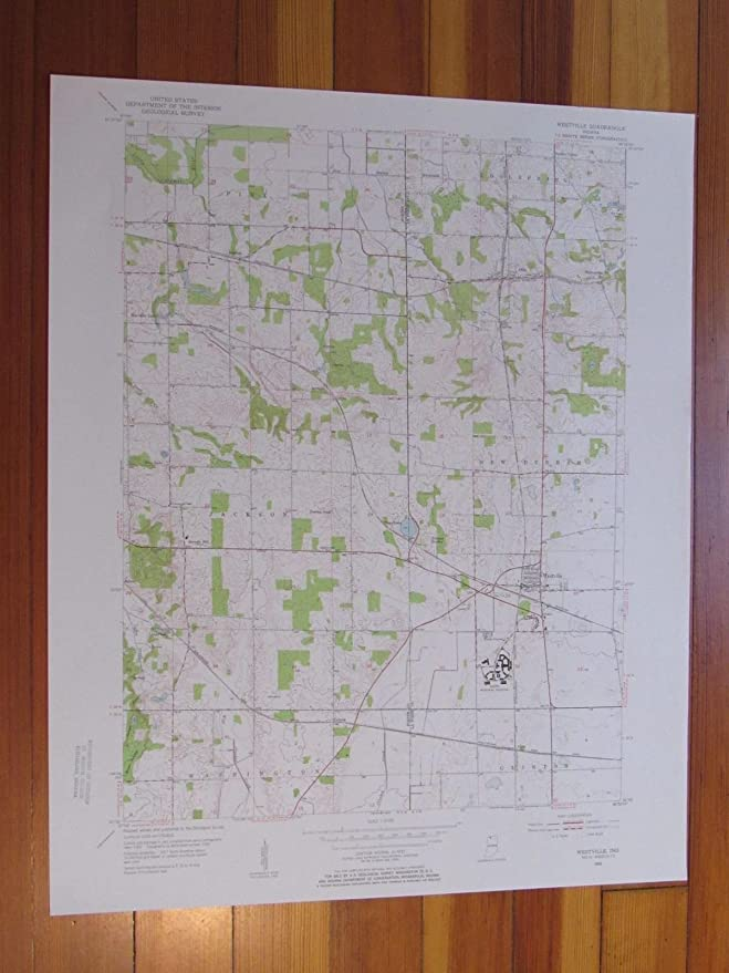 Westville Indiana Map.Amazon Com Westville Indiana 1955 Original Vintage Usgs Topo Map