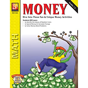 "Remedia Publications REM536A Money Activity Book, Grade: 1 to 2, 0.3"" Height, 8.5"" Wide, 11"" Length"